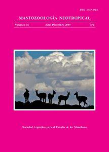 Cover of Mastozoología Neotropical Vol. 16 No. 2