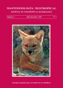 Cover of Mastozoología Neotropical Vol. 4 No. 2