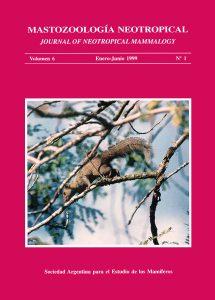 Cover of Mastozoología Neotropical Vol. 6 No. 1