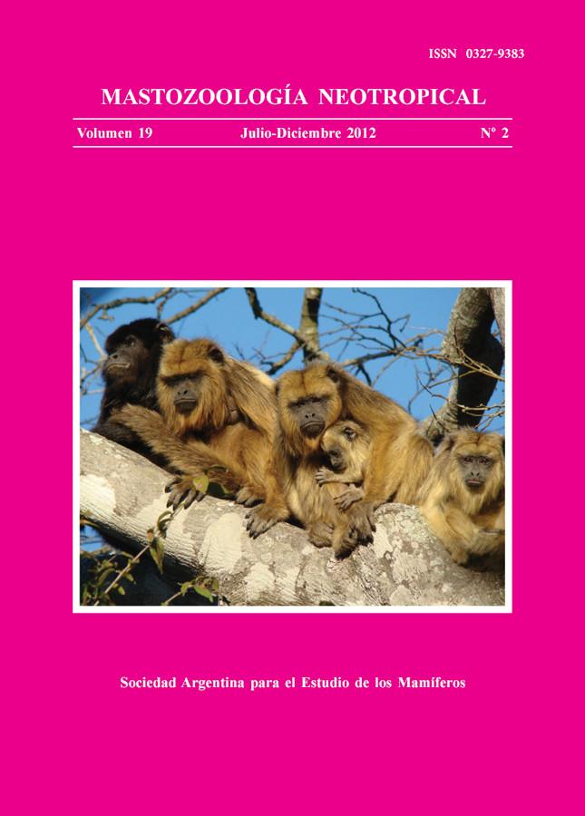 Cover of Mastozoología Neotropical Vol. 19 No. 2