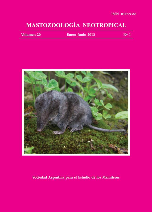 Cover of Mastozoología Neotropical Vol. 20 No. 1