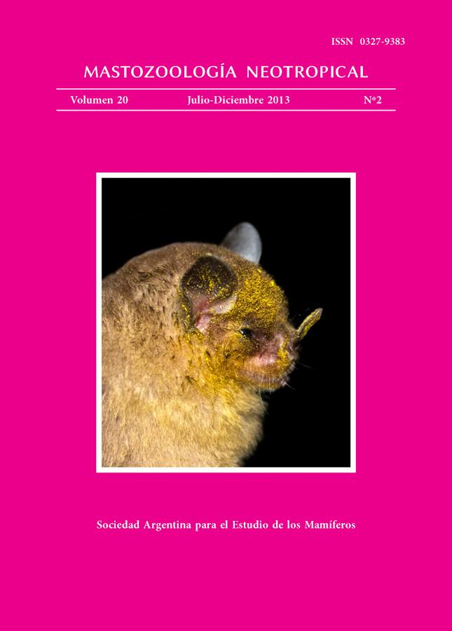 Cover of Mastozoología Neotropical Vol. 20 No. 2