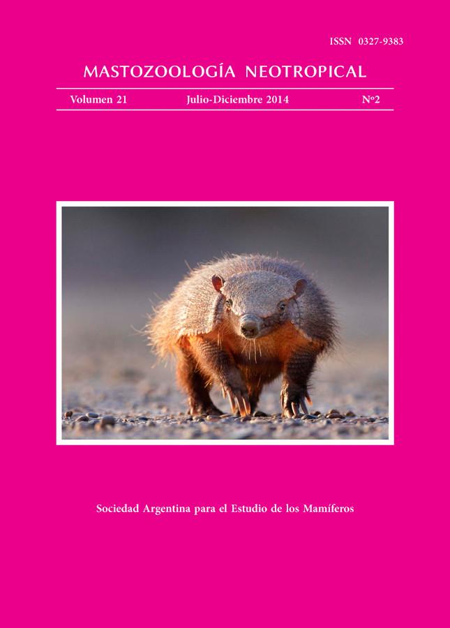 Cover of Mastozoología Neotropical Vol. 21 No. 2