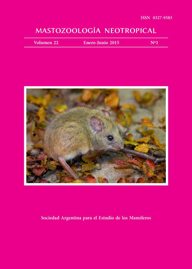 Cover of Mastozoología Neotropical Vol. 22 No. 1