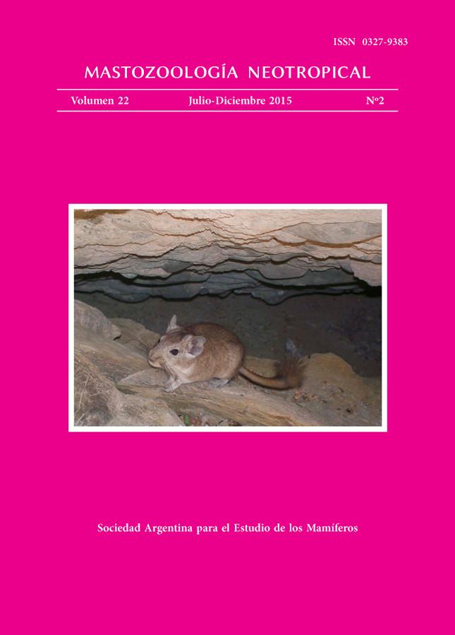 Cover of Mastozoología Neotropical Vol. 22 No. 2