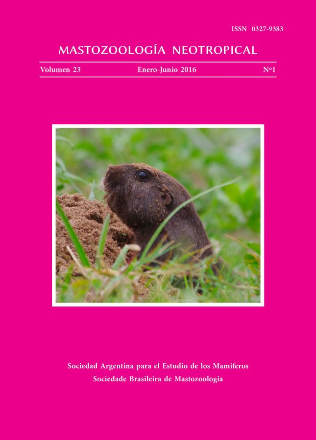 Cover of Mastozoología Neotropical Vol. 23 No. 1
