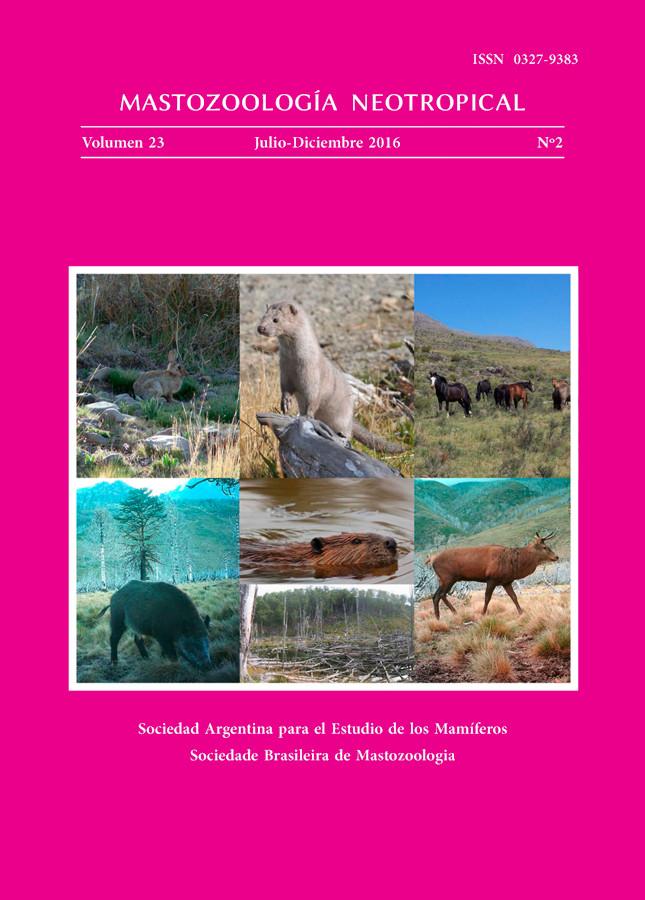 Cover of Mastozoología Neotropical Vol. 23 No. 2