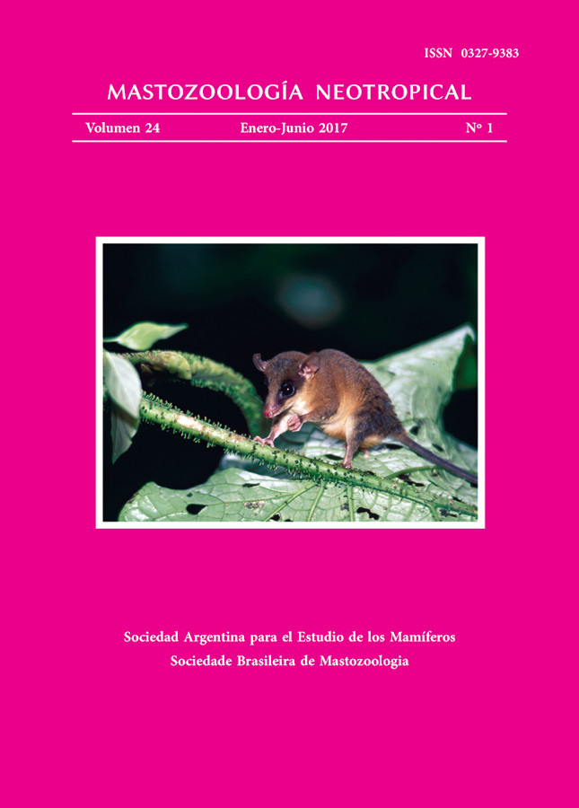 Cover of Mastozoología Neotropical Vol. 24 No. 1