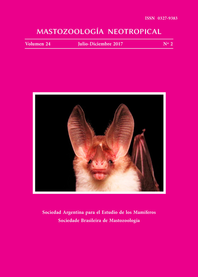Cover of Mastozoología Neotropical Vol. 24 No. 2