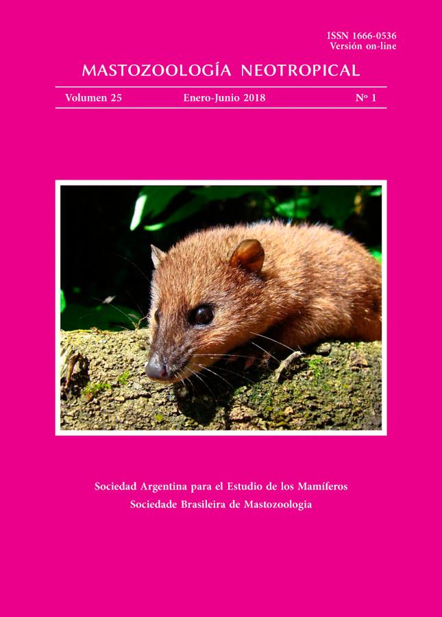 Cover of Mastozoología Neotropical Vol. 25 No. 1