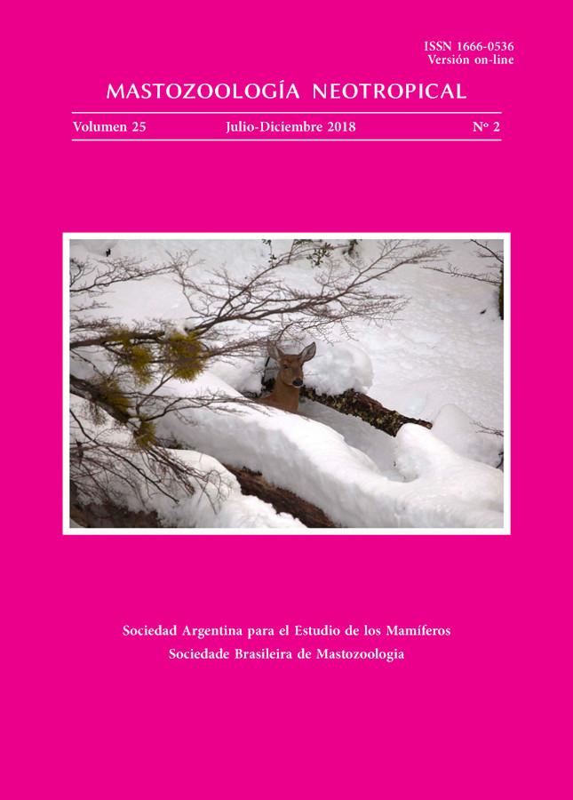 Cover of Mastozoología Neotropical Vol. 25 No. 2