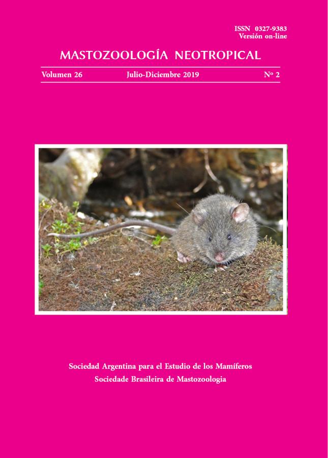 Cover of Mastozoología Neotropical Vol. 26 No. 2
