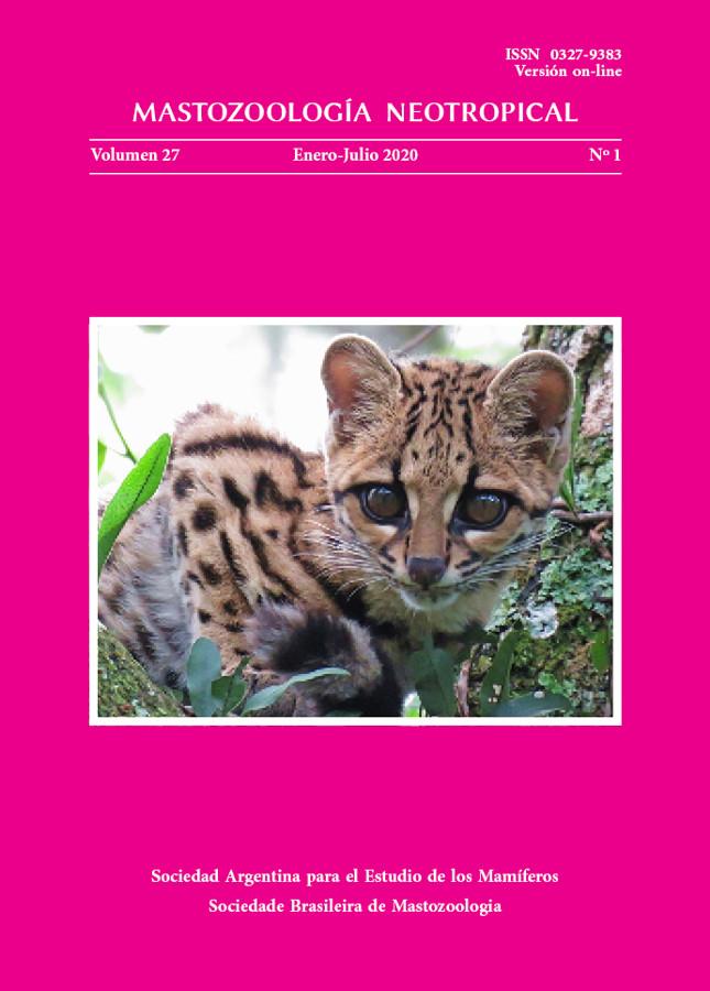 Cover of Mastozoología Neotropical Vol. 27 No. 1