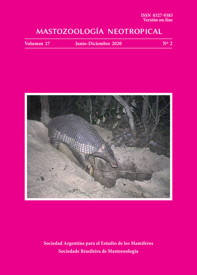 Cover of Mastozoología Neotropical Vol. 27 No. 2